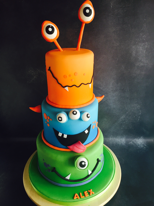 A Colourful Monsters Cake Bring Smile To All That See This Birthday
